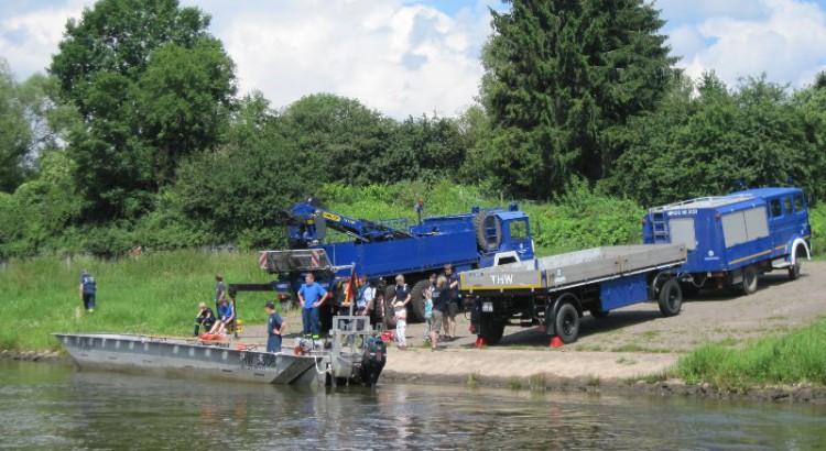 Bootsfahrt auf der Weser