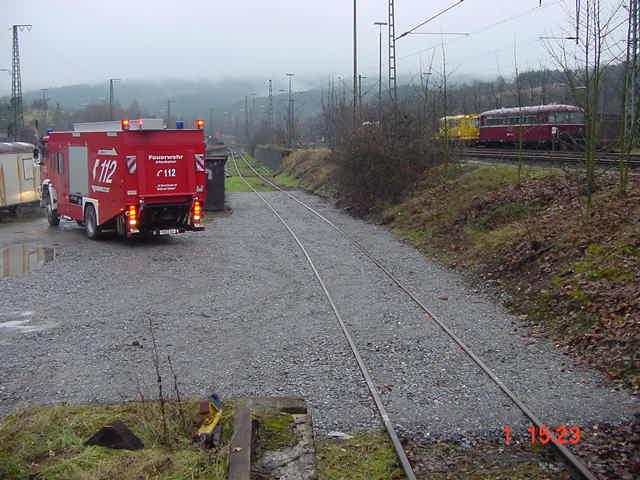 Das Übungsgleis in Altenbeken. Vor Aufnahme eines Übungsbetriebs muss der zuständige Fahrdienstleiter darüber informiert werden.