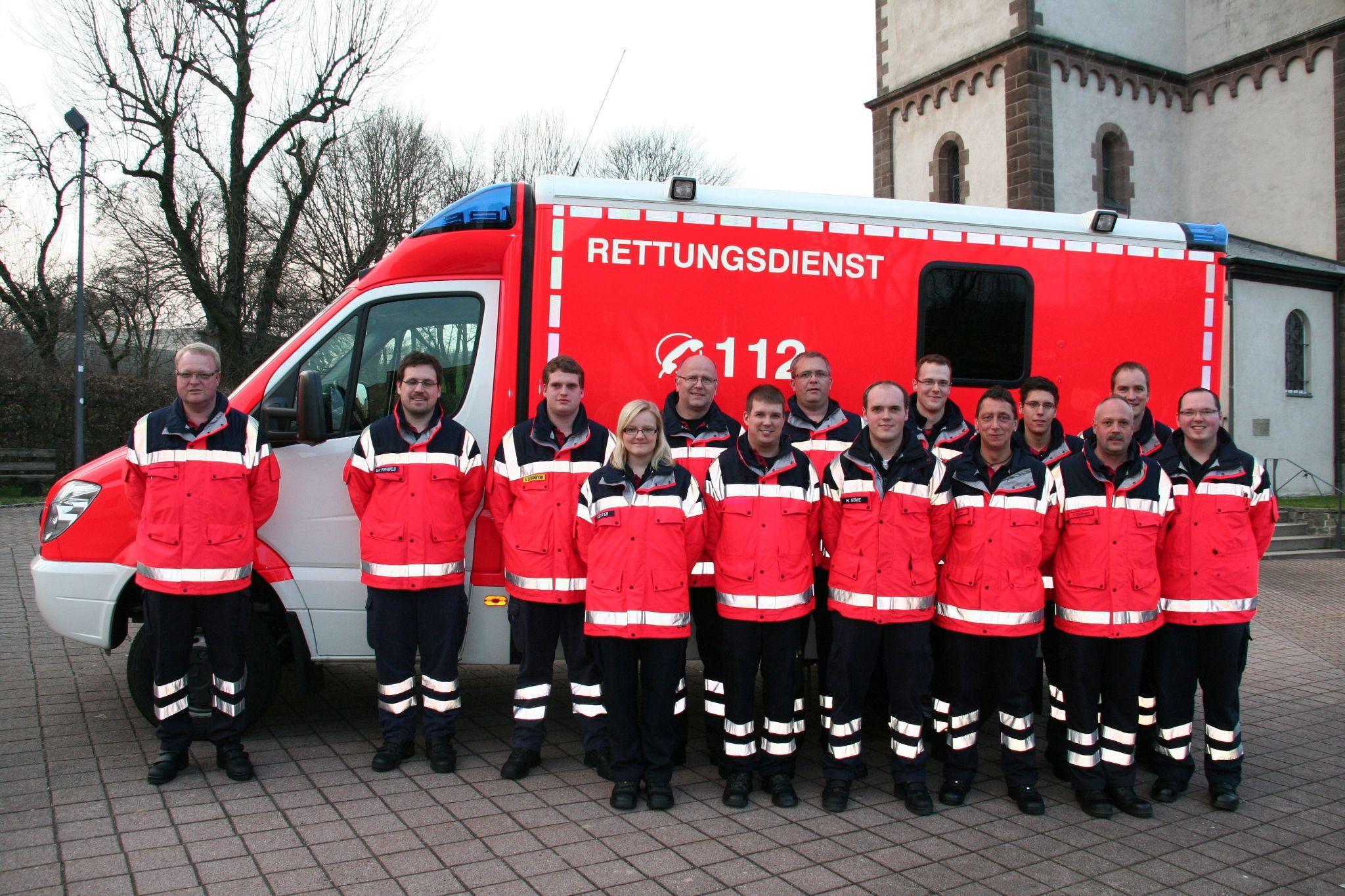 Gruppenbild Rettungsdienst 2012