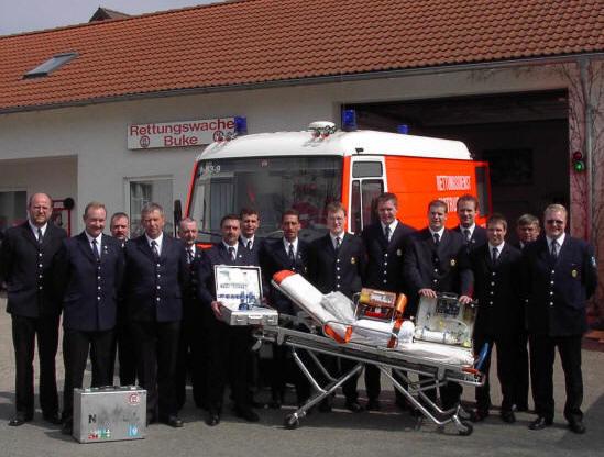 Die Rettungsdienstgruppe vor einigen Jahren