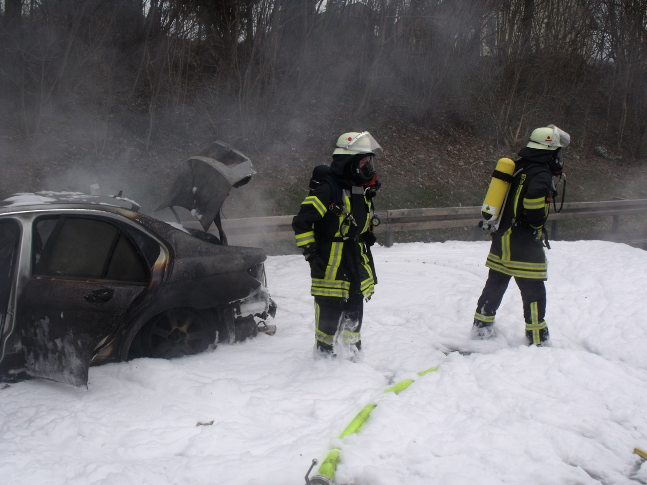 Fahrzeugbrand B64