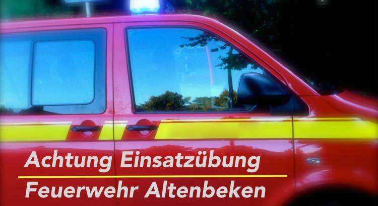 Einsatzübung Feuerwehr