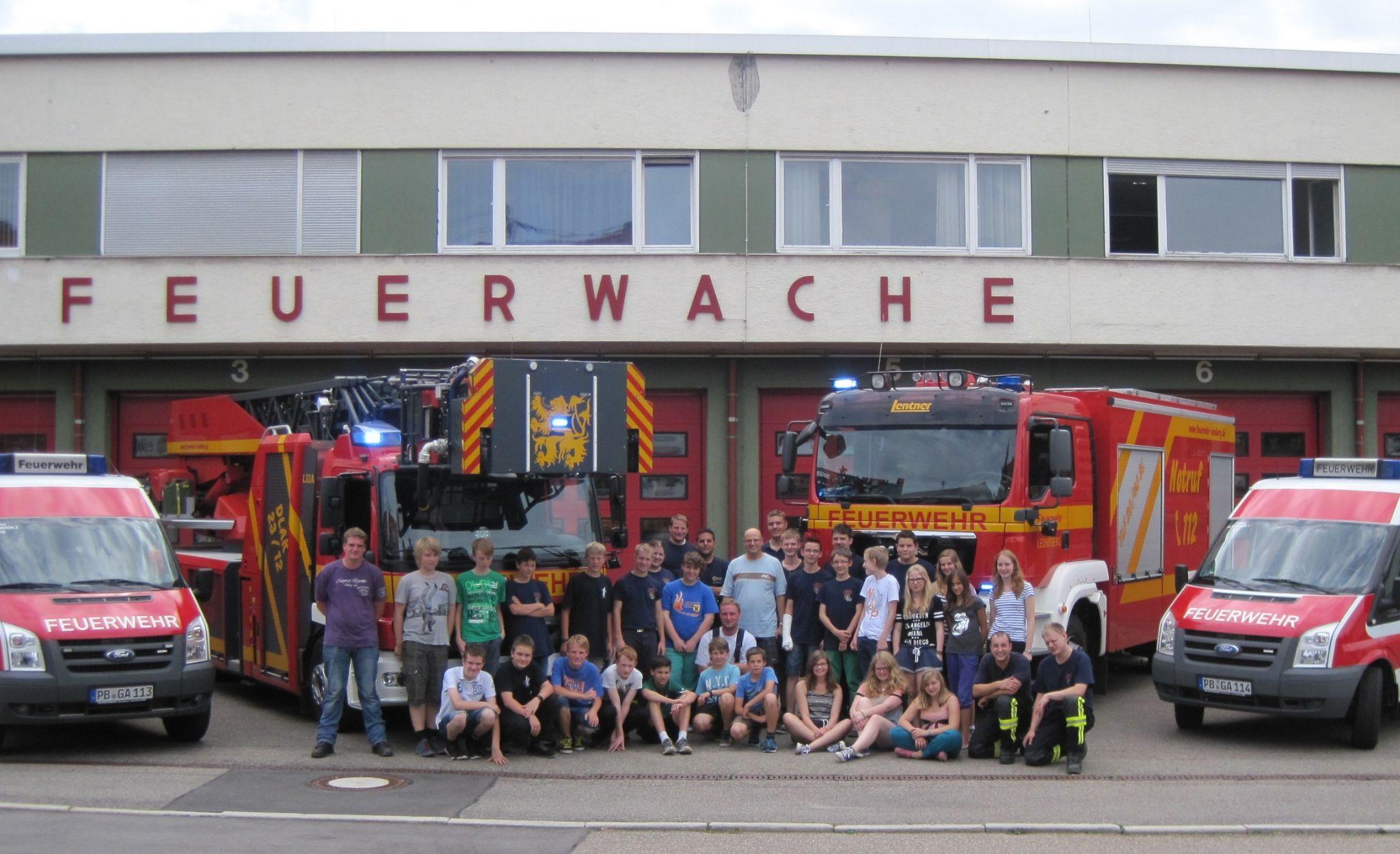 Besuch bei der Jugendfeuerwehr Leonberg