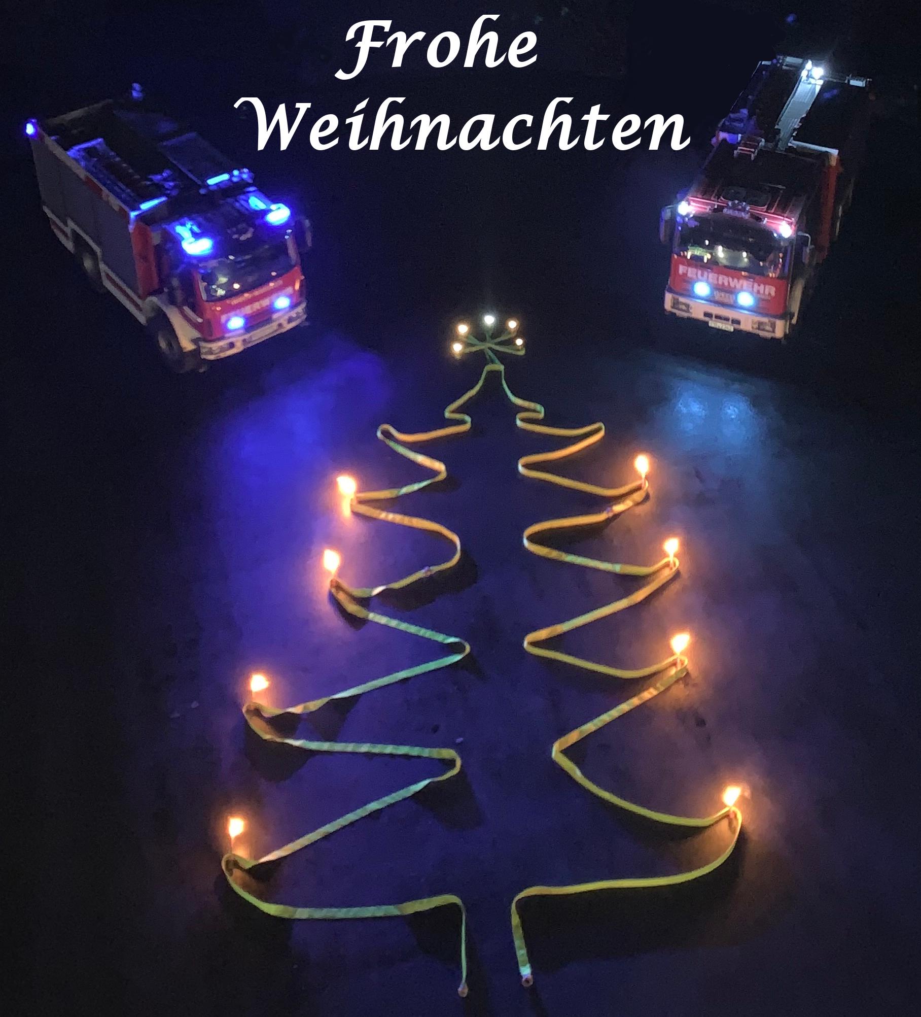 Das Weihnachten.Frohe Weihnachten Feuerwehr Altenbeken